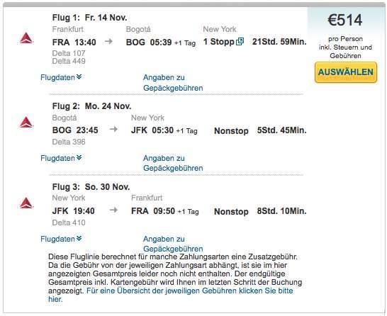 delta airlines von frankfurt nach bogot kolumbien ab 505 hin und zur ck mit stopover in. Black Bedroom Furniture Sets. Home Design Ideas